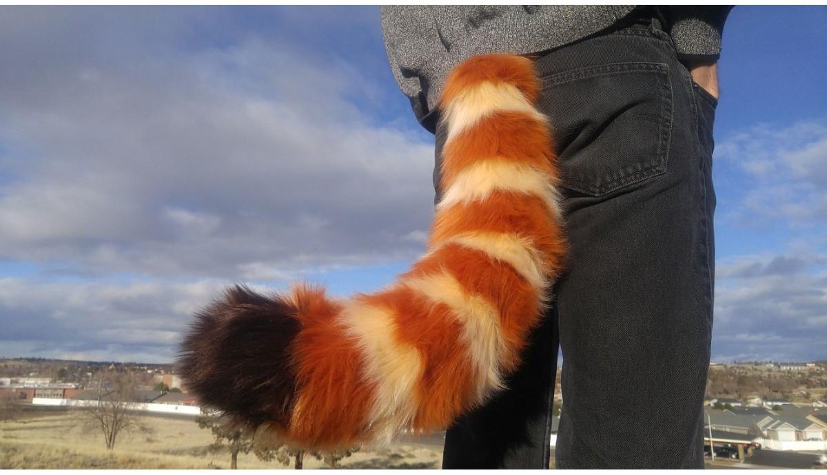 "Fursuit Panda furry red panda costume tail 26"""