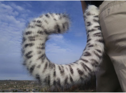 furry snow leopard costume tail