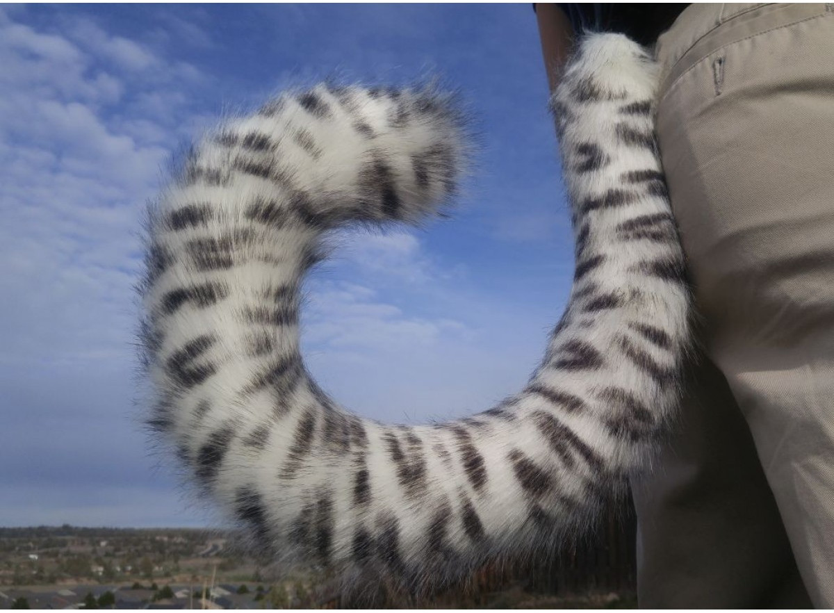 "Wild Leopard Costume Tails 36/"" by AnthroWear Furry Clip-On Cosplay Accessories"