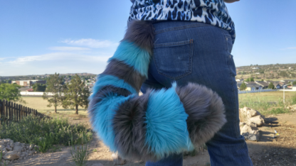 furry xl cheshire cat costume tail blue