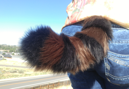 furry raccoon costume tail mini