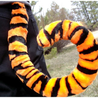 furry orange tiger costume tail