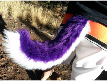 furry husky costume tail
