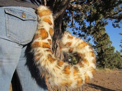furry leopard costume tail